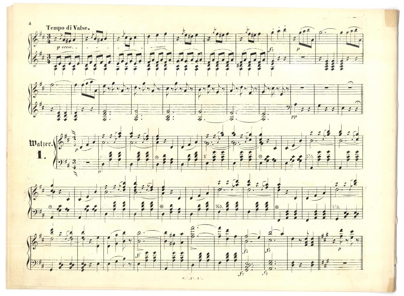 楽譜 - 美しき青きドナウ - 楽譜